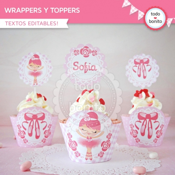 Bailarina: wrappers y toppers