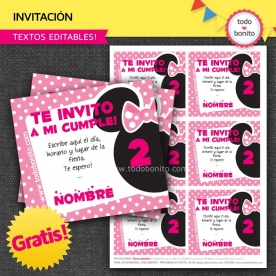 Minnie Mouse: Invitaciones GRATIS!