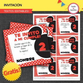 Mickey Mouse: Invitaciones GRATIS!