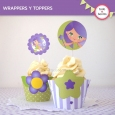 Hada Lila: wrappers y toppers para cupcakes