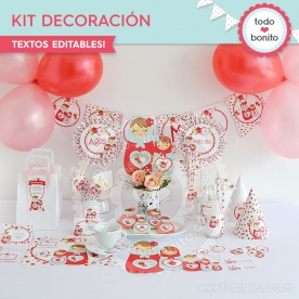 Matryoshka: kit imprimible decoración de fiesta