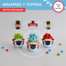 Egresaditos: wrappers y toppers