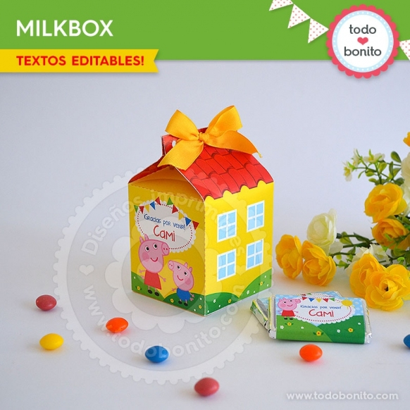Cerdita: milkbox casita