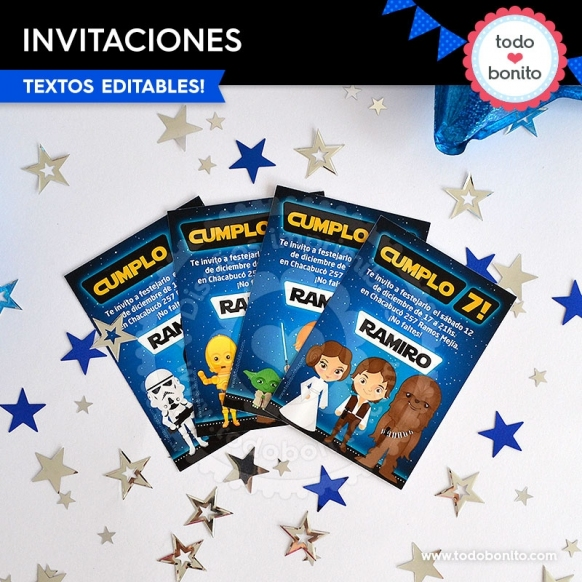 Star Wars: invitación imprimible y digital