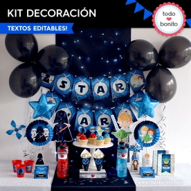 Star Wars: kit imprimible decoración de fiesta