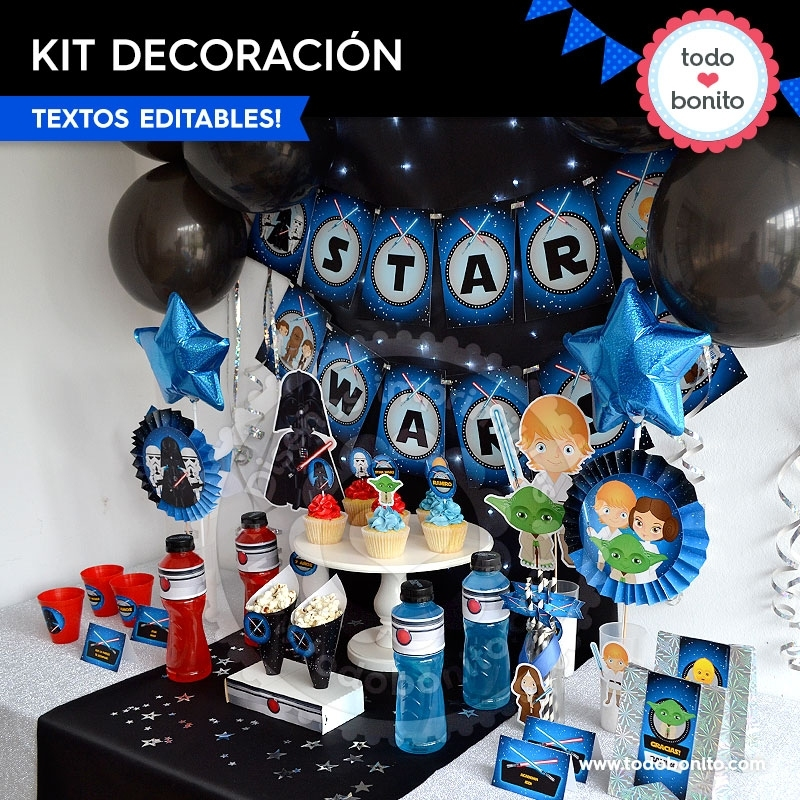 Star wars decoraci n de fiesta para imprimir todo bonito for Decoracion star wars