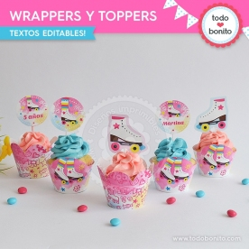 Patines: wrappers y toppers