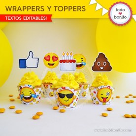 Emojis: wrappers y toppers