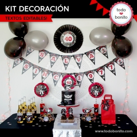 Rock: kit decoración