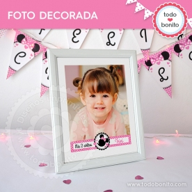 Orejas Minnie Rosa: foto decorada