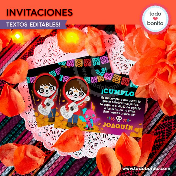 Coco: invitación imprimible y digital