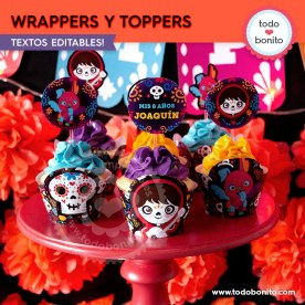 Coco: wrappers y toppers
