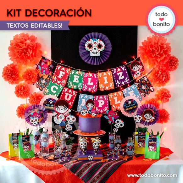 Coco: kit imprimible decoración de fiesta