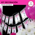 Rayas y flores fucsia: Kit decoración