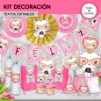 Gatita princesa cool: kit imprimible decoración