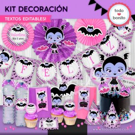 Vampirina: kit imprimible decoración de fiesta