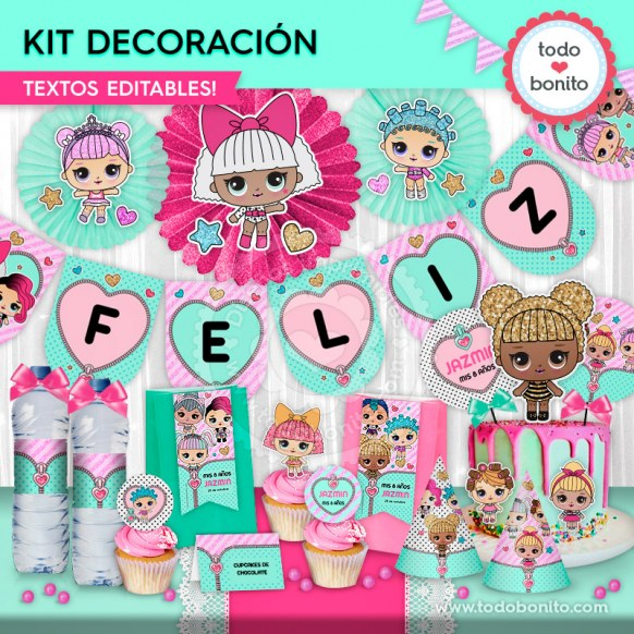 LOL: kit imprimible decoración de fiesta