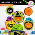 Halloween: wrappers y toppers para cupcakes