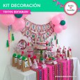 Llamas: kit imprimible decoración de fiesta