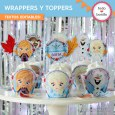 Frozen 2: wrappers y toppers para cupcakes