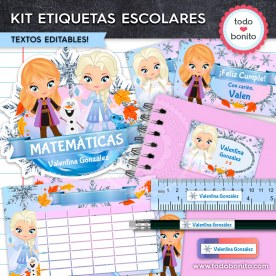 Frozen 2: Kit imprimible etiquetas escolares