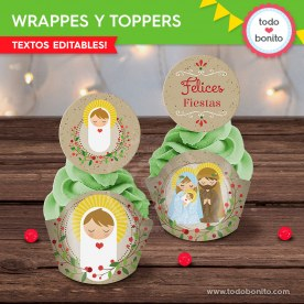 Niño Jesús: wrappers y toppers