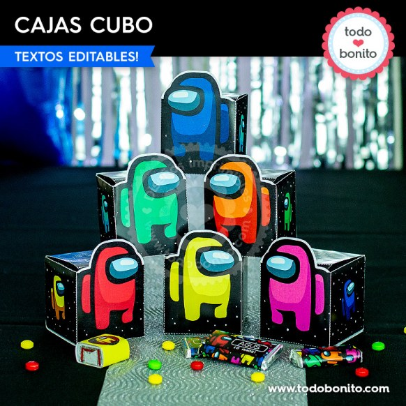 Among Us: cajas cubo